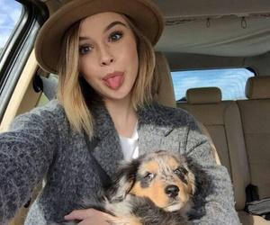 girl, acacia brinley, and dog image