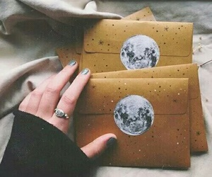 moon, grunge, and letters image