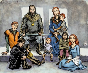 art, stark, and game of thrones image