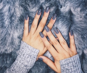 grey, nail art, and nails image