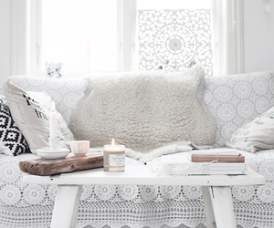 house, candle, and design image