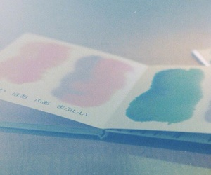 blue, book, and pastel image