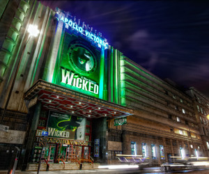 london, musicals, and wicked image
