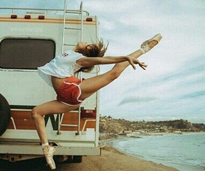 ballet, beach, and sea image