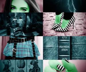 Frankenstein, green, and monster high image