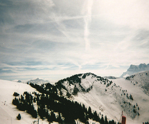 snow, mountains, and landscape image
