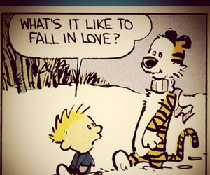 Calvin & Hobbes and love image