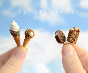 ice cream, miniature, and food image