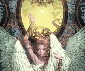 art, angel, and fantasy image