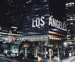 city, los angeles, and light image