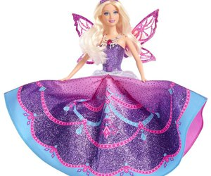 barbie, doll, and butterfly image