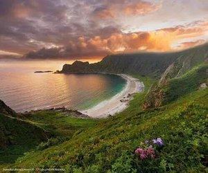 norway, nature, and beach image