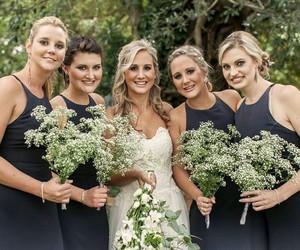 black, blonde, and bride image