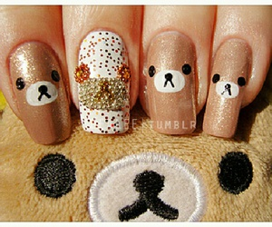 nails, rilakkuma, and bear image