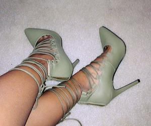 heels and mint green heels image