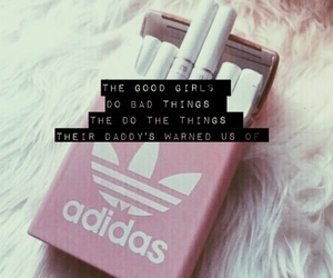 baby pink, bad, and cigarette image
