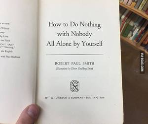 alone, book, and nobody image