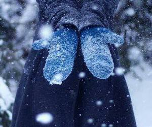 snow, winter, and blue image