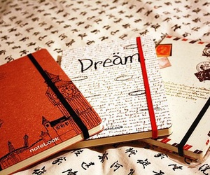 Dream, book, and notebook image