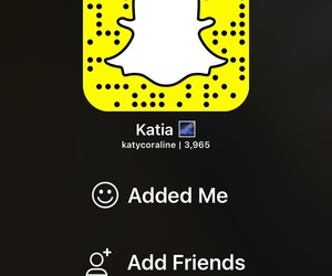 add me, snapchat, and katycorline image