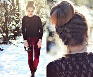 fashion, hair, and winter image