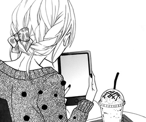 manga, cute, and girl image