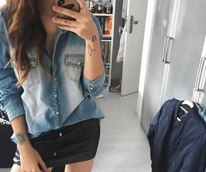 jeans, outfit, and vicqueen image