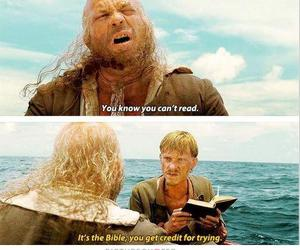 pirates of the caribbean, funny, and bible image