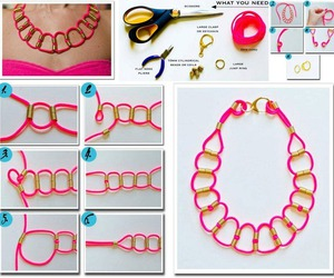 diy, pink, and necklace image