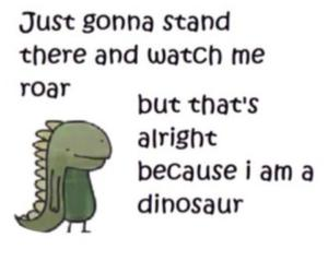 dinosaur, funny, and roar image