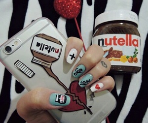 iphone, nutella, and phone image