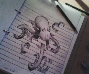 animal, doodle, and octopus image