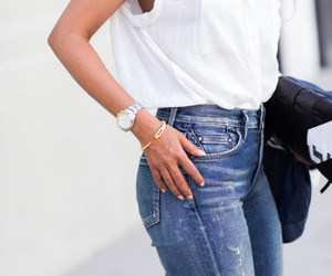 fashion, jeans, and outfit image