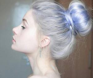 colored hair, long hair, and pastel image