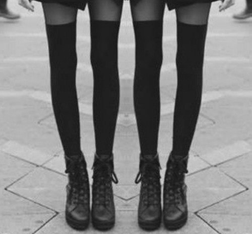 appeal, black and white, and boots image
