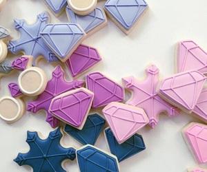 diamond, pink, and food image