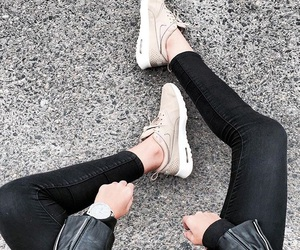 beige, fashion, and sneakers image