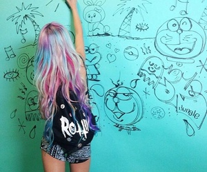 hair, art, and grunge image
