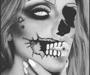 Halloween, makeup, and zombie image