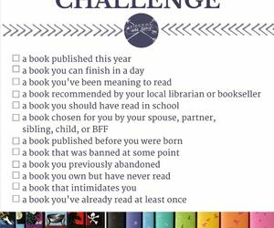 book, challenge, and goals image