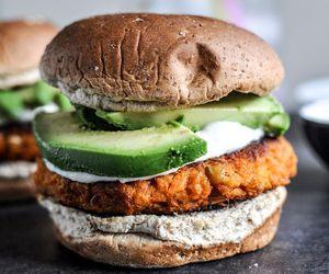 burger, food, and avocado image
