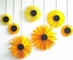 diy, Paper, and sunflower image