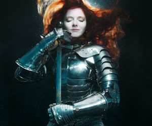 girl, redhead, and armor image