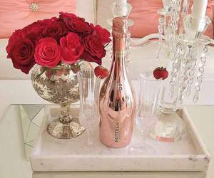 luxury, rose, and champagne image