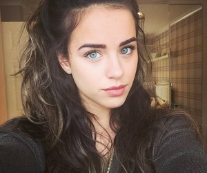 eyebrows, green eyes, and pretty girls image