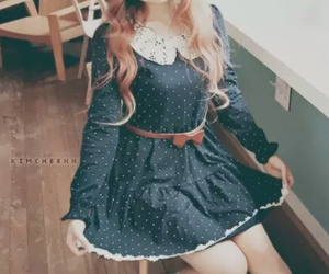 dress, ulzzang, and bow image