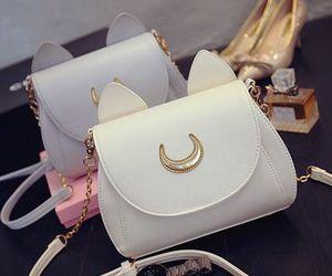 bag, fashion, and gold image