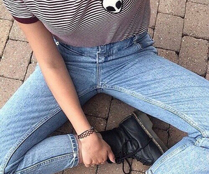 doc martens, girl, and jeans image