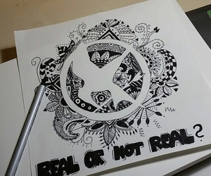 drawing, hunger games, and thg image