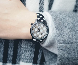 clock, fashion, and grey image